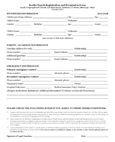 South Church Registration and Permission Form_Page_1