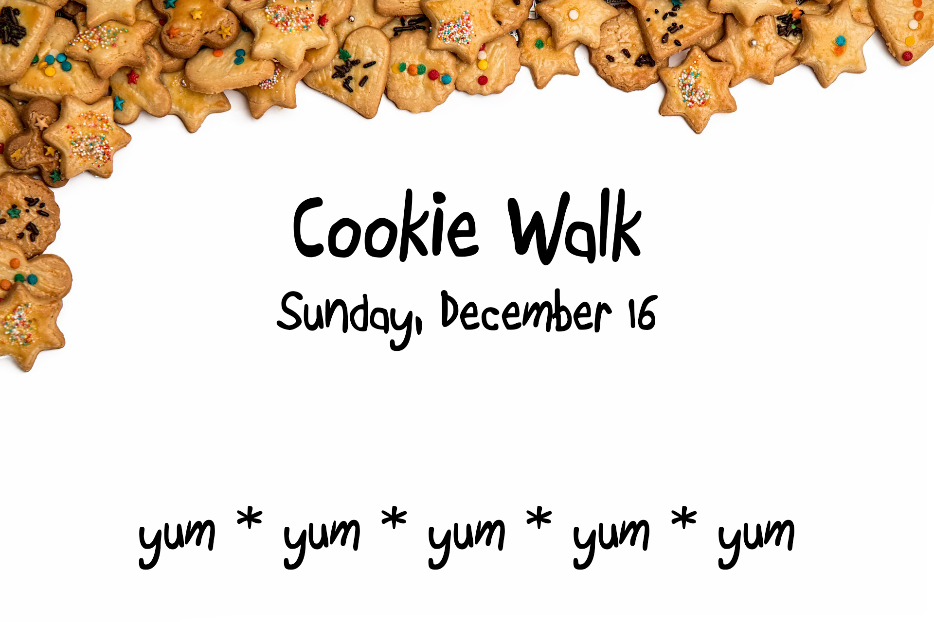 Upcoming Events Cookie Walk 2018