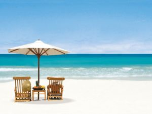 Sermon Series: Songs of Faith ~ It Is Well With My Soul chairs on beach