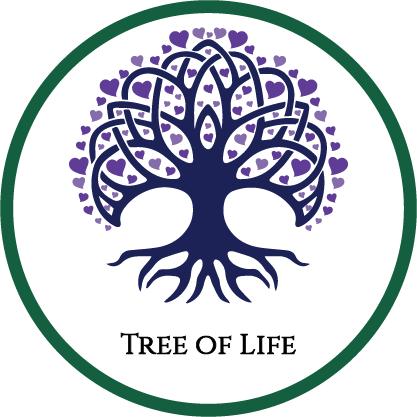 Tree of Life Ministry Tree of Life Logo Hearts GrPur
